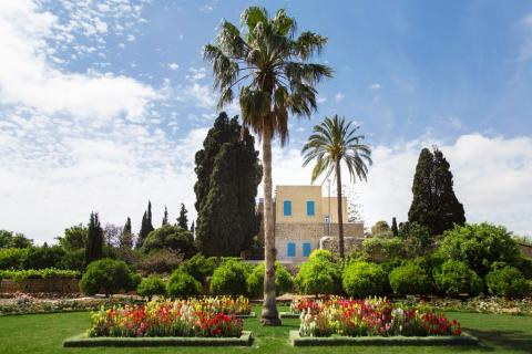 Mansion of Mazra'ih and surrounding gardens